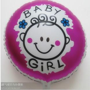 Шарик Baby-Girl(для девочки) лицо