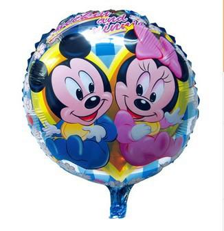 Шарик Mickey & Minnie круг 45х45см(синий)