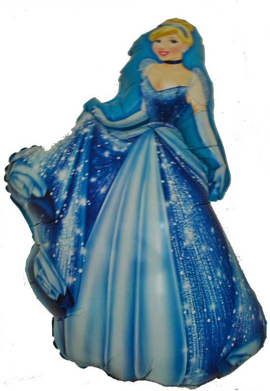 Шарик  Золушка 80 см. (голубая)(летает)