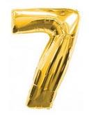 Цифра 7 большая 110см золотая (Китай)