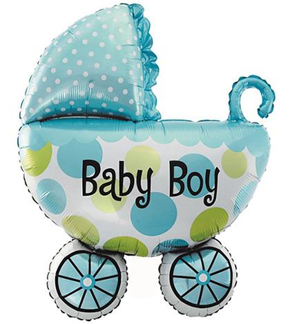 Коляска Baby Boy(голубя) 60х80см.(большая)
