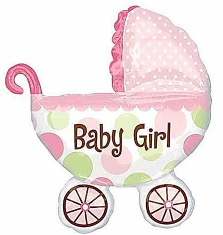 Коляска Baby Girl(розовая) 60х80см.(большая)