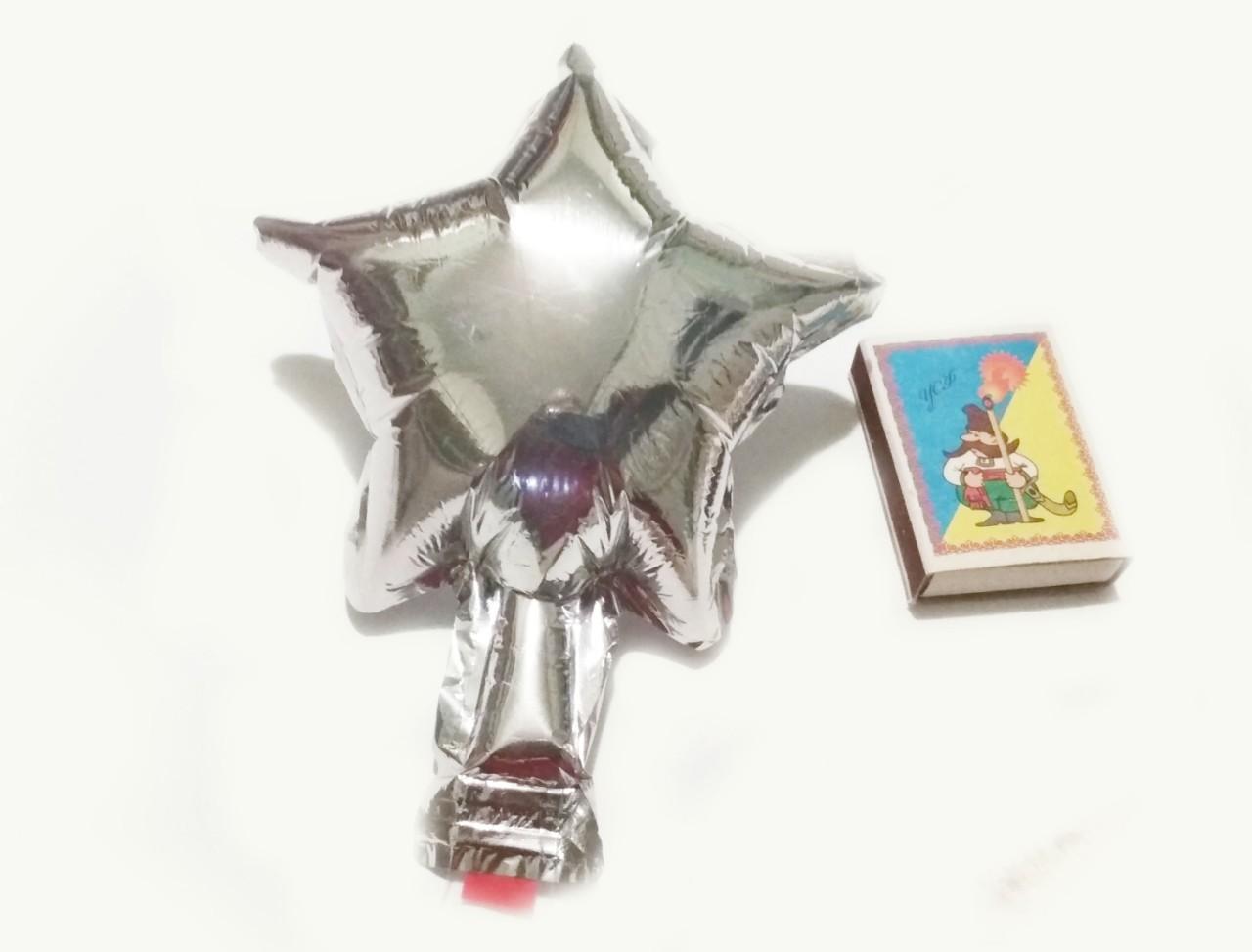 Звезда(мини) 4 дюйма(13*13см) серебро от 5 шт! Китай