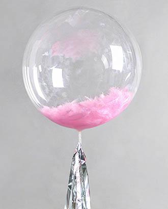 Шарик Bubble прозрачный 24″ (55см)