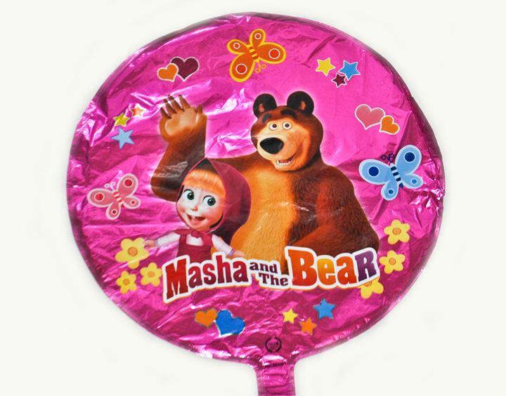 Шарик круг Маша и Медведь 45х45см