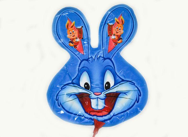 Шарик на палке Кролик синий от 3шт
