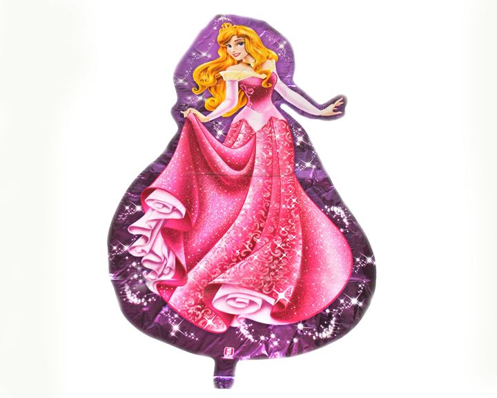 Шарик гигант Принцесса в розовом 85х55см