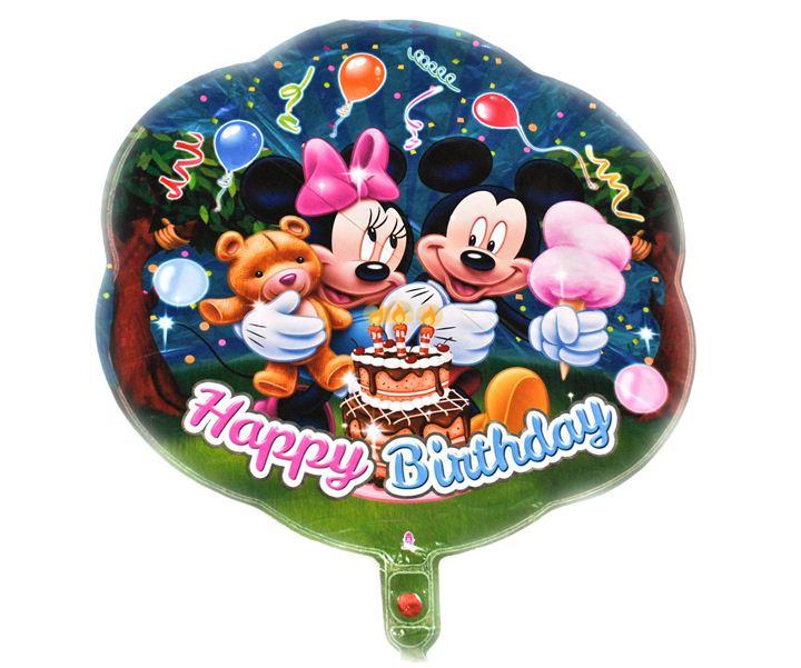Шарик цветок Happy Birthday Mikky 48х48см