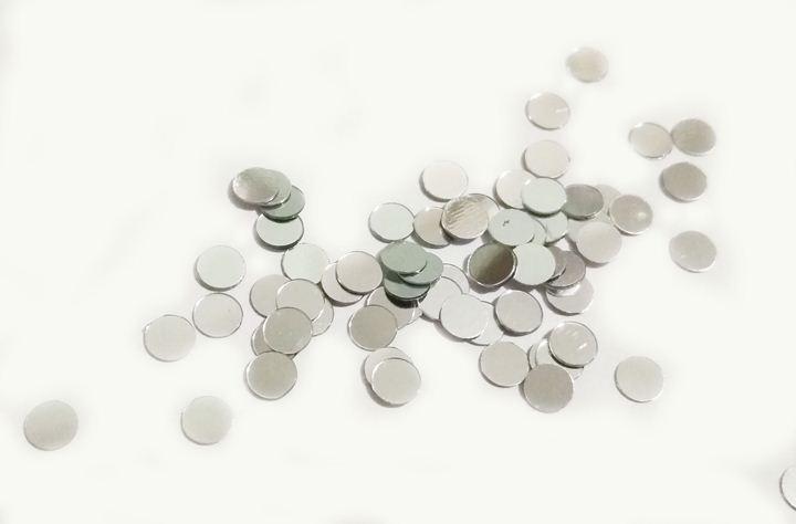 Конфети мини кружочки серебро 4мм