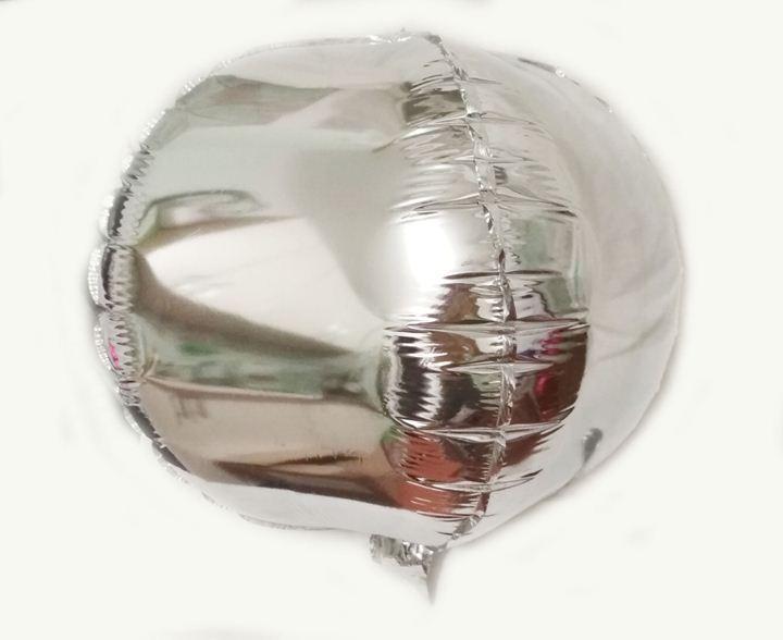 Шарик фольгированный куб серебро 28х28см