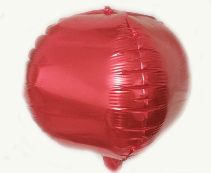Шарик фольгированный куб красный 28х28см