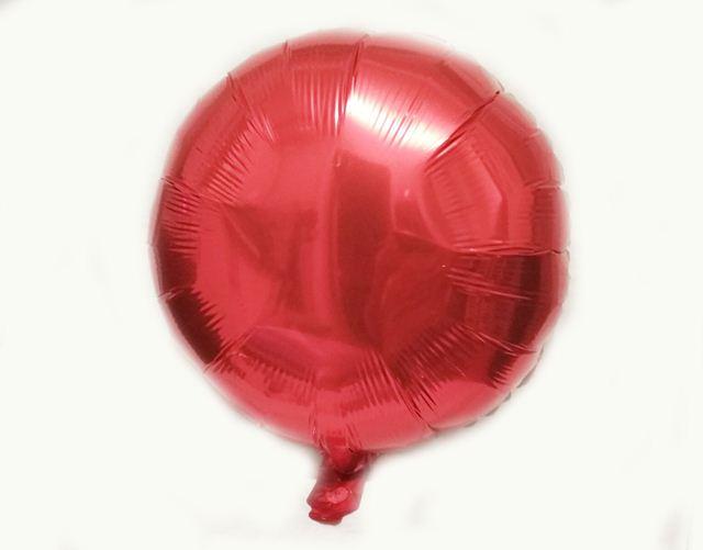 Шар фольга круг 45х45см. красный