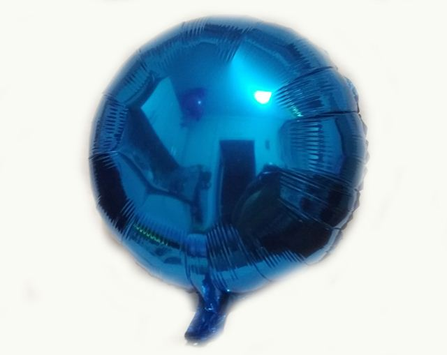 Шар фольга круг 45х45см. синий