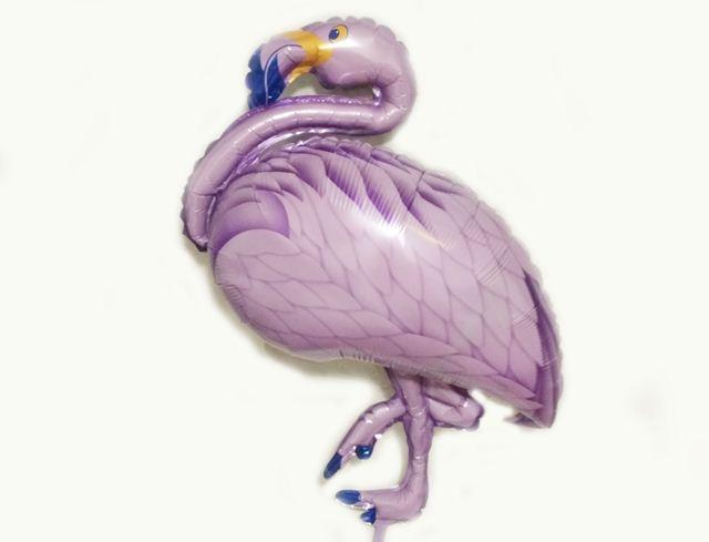 Шар фольга фламинго фиолетовый