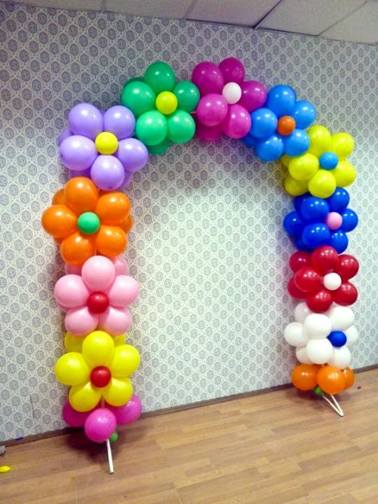 Оформить из шаров своими руками 775